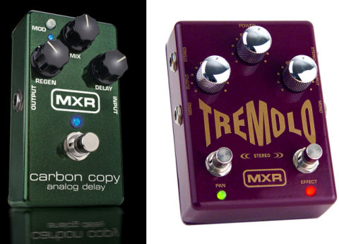 MXR M-169 Carbon Copy Analog Delay & M-159 Tremolo-PR Pedals