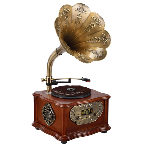 Wooden Gramophone Phonograph Turntable
