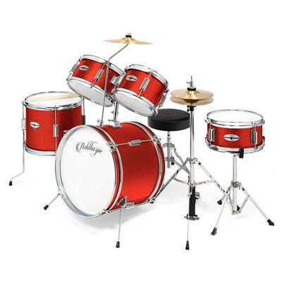 Junior Drum Set with Genuine Brass Cymbals
