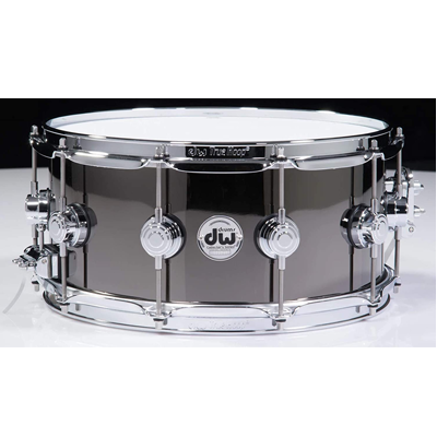 Black Nickel Over Brass Snare Drum