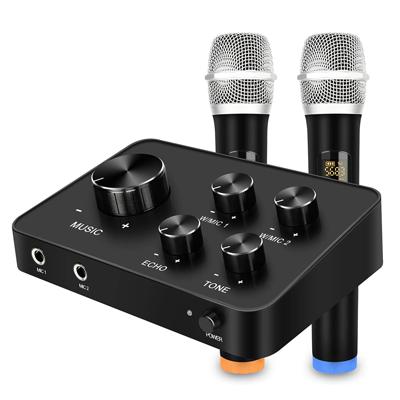 Portable Microphone Mixer System Set