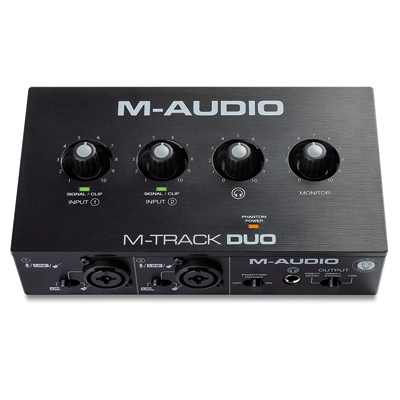 M-Audio M-Track Duo – USB Audio Interface for Recording