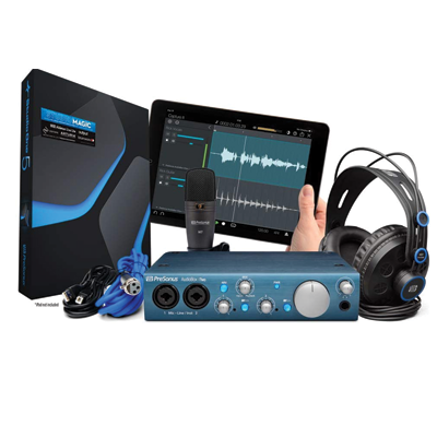 Presonus AudioBox iTwo USB 2.0 Recording Bundle with Interface