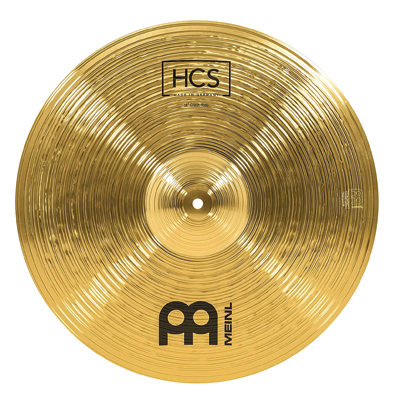 Meinl 18 inch Crash/Ride Cymbal - HCS Traditional Finish Brass for Drum Set