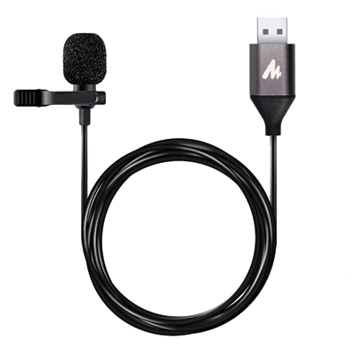 USB Lavalier Microphone Omnidirectional Lapel Mic