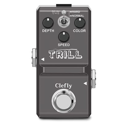 Clefly Nano Tremolo Effect Pedal for Guitar True Bypass